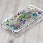 BMC Butterfly Glitter Pressed Real Dry Flower Bling Resin Hard Skin Case Cover