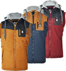 Mens Crosshatch 'Brecoms' Bodywarmer Gilet Padded hooded Jacket / Coat