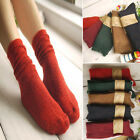 Winter Warm Women Knit Crochet Cotton Soft Thick Long Socks Thermal Cashmere