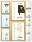 PERSONALISED Handmade Holy Communion / Confirmation Card - 9 Designs Available