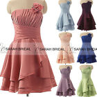 2015 Bridesmaid Dresses Bowknot Junior Short Party Evening Gowns Prom Girls Hot