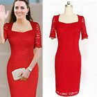 New Flora Lace Women Evening Party Wedding Prom Bodycon Party Formal Dress