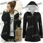Women's Winter Warm Top Hoodies Parka Fur Causal Coat Long Sleeve Outwear Jacket