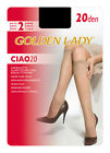 2 PAIA PAIRS GAMBALETTI  GAMBALETTO STRETC KNEE HIGH KNIE GENOU  GOLDEN LADY