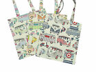 VW Campervans 100% Cotton Designer Fabric Tote Carry Carrying Shoulder Bag