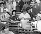 1937 Babe Ruth & Wife Yankees at Griffith Stadium Historical Photo