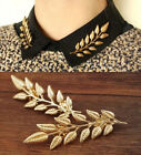 Double Leaf Collar Women Pin Brooch