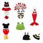 Newborn Baby Costume Clothes Photo Photography Prop Hats Crochet Knit + R Hook