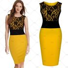 New Womens Black Lace Bodycon Evening Cocktail Party Formal Prom Clubwear Dress