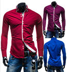 Modish Mens Luxury Novelty Stylish Slim Fit Long Sleeve Casual Dress Shirts WBUS