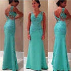 Vintage Women Evening Party Slim Ball Gown Masquerade Bridesmaid Long Prom Dress