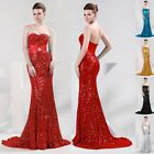 Long Sequins Masquerade SLIM Mermaid Bridesmaid Prom Gowns Evening Party Dresses