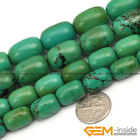Natural Column Old Turquoise Gemstone Jewelry Making Beads Spacer Strand 15""