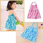 1.5-6Y Kids Baby Girls Halter Neck Floral Dress Cotton Summer Skirt Beach Dress