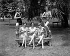 1926 GIRLS IN BATHING SUITS PLAY UKELES PHOTO VINTAGE HISTORICAL