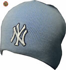 NEW Mens Womens UNISEX New York NY Yankees Blue Wooly Woolly Beanie Hat ONE SIZE