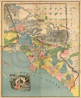 1888 Historical Land Ownership Map Los Angeles California Largest Size