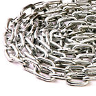 8.0mm CHAIN - VERY HEAVY DUTY - THICK WELDED SECURITY ZINC CHAIN - LINKS HANGING