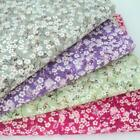 MIDGET FLORA - SMALL FLORAL 100% COTTON FABRIC grey green pink purple