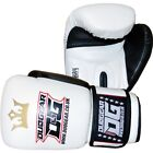WHITE 'RAJA' MMA KICKBOXING SPORTS TRAINING BAGWORK BOXING PADWORK GLOVES