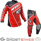 Wulf Crossfire Adult Red Motocross Kit Enduro MX Race Wulfsport Breathable