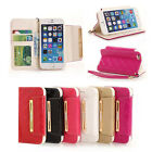 Patent PU Leather Wallet Stand Flip Card Holder Case Cover For iPhone 5S 6/Plus