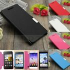 Flip Leather Metal Magnetic Hard PC Case Cover For Huawei Ascend P6/P7/G330/Y330
