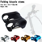 Folding cycle Bicycle bike Double stem T handlebar stems 25.4 mm connector black