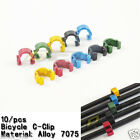 10pcs MTB Mountain road bicycle bike brake C Clip Cable Housing Hose Guide Caps