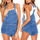 May&Maya Women's Denim Adjustable Shoulder Overalls Playsuit Romper Short Pants