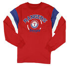 MLB Baseball Kids / Youth Texas Rangers Vintage Long Sleeve Shirt - Red