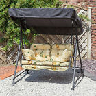 Alfresia Garden Swing Seat for 2 with Luxury Cushions (Black Frame)