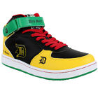 Drity Money Rasta Hi Top Trainers Shoes One Love Money Faux Leather Sneakers
