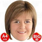 NICOLA STURGEON Face Mask BIG A3 or A4 - GENERAL ELECTION SNP SCOTTISH MINISTER