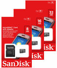 Внешний вид - SanDisk 4GB 8GB 16GB 32GB Micro SD SDHC Class 4 TF Flash Memory Card Adapter Lot
