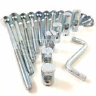 115mm LONG FURNITURE COT & BED BOLTS - WITH ZINC BARREL NUTS AND FREE ALLEN KEY