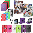 For APPLE iPAD AIR 1 & 2 - PU LEATHER CASE COVER STAND WITH AUTO SLEEP / WAKE