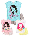Girls Disney Violetta Pyjama Set Kids Shorts and T Shirt Pjs New Age 8-16 Years