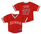 Majestic MLB Infant Los Angeles Angels of Anaheim Mike Trout #27 Jersey, Red