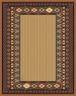 BEIGE tan MODERN striped SOUTHWESTERN carpet LODGE bordered RUSTIC area RUG