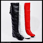 Design Fashion Unique Womens Ladies Low Heel Knee High Boots Shoes AU Size Y806