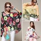 Women Fashion Dolman Sleeve Tops Bohemian Loose Oversize Chiffon Blouse T Shirt