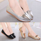 Womens Ballerina Flats Oxfords Patent Leather Pointed Toe Casual Loafers Shoes