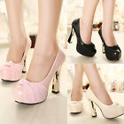 Ladies Fashion Sexy Platform Wedge High Heels Pumps Stilettos Shoes Size 3 4 5