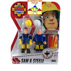 SAM IL POMPIERE Blister con 2 personaggi 7cm Articolati con accessori by GIG