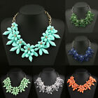 2015 Crystal Acrylic Flower Chain Choker Chunky Statement Collar Necklace 10I