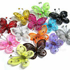 "20 PCS 2"" Organza Butterflies Craft Wedding Party Decoration DIY Choose Colours"