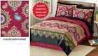 Collections Etc Colorful Henna Pattern Bedroom Comforter Set