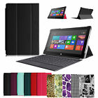 """Multi-Color Slim Flip Case Cover for Microsoft Surface 2 Surface RT 10.6"""" Tablet"""