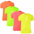 Mens Neon T-Shirt Brave Soul New Summer Bright Coloured Tee Short Sleeved Top